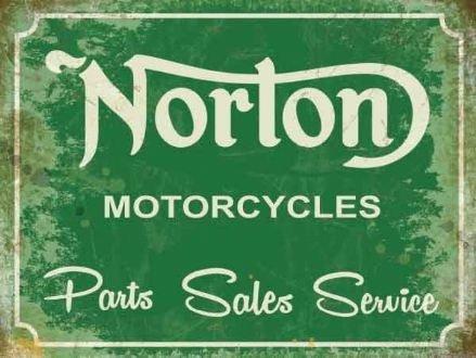 Norton Service Sign - Metal Wall Sign (3 sizes)